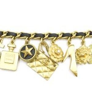 CHANEL Jewelry - Chanel Rare Vintage 94A Plated  Charm Bracelet